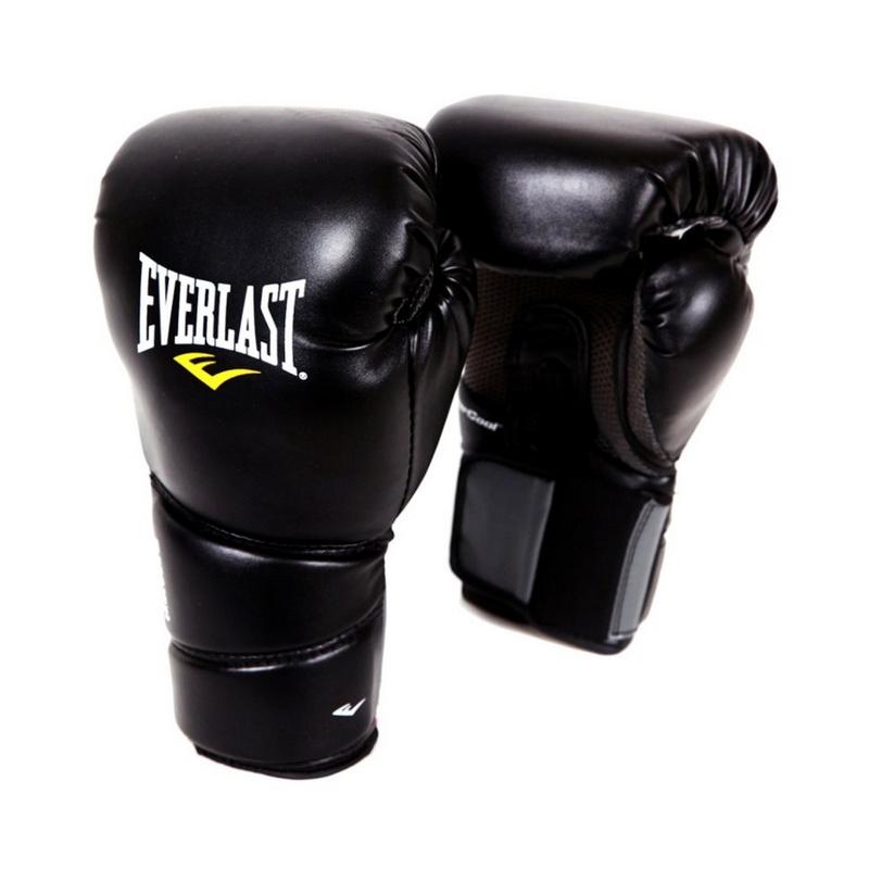 Купить Перчатки тренировочные Everlast Protex2 12 oz SM черный 3112SMU,