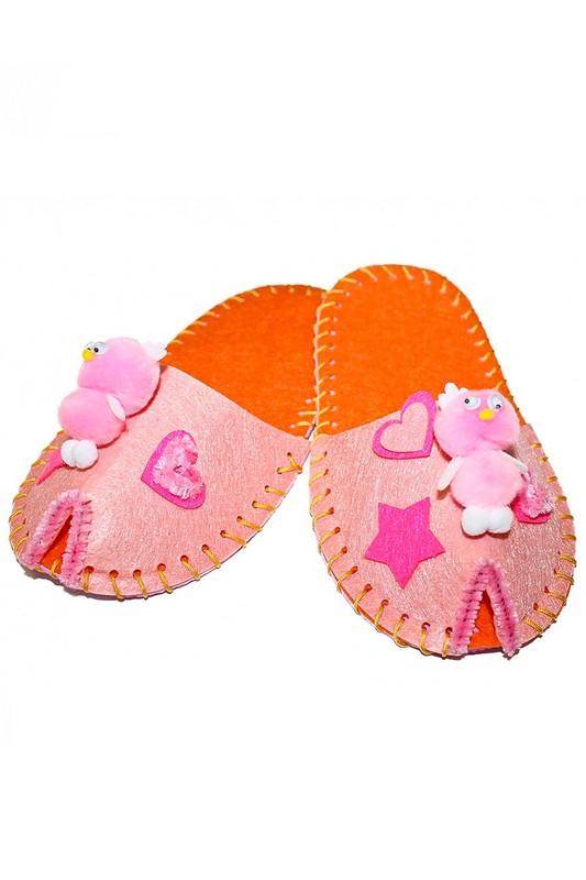 Набор для творчества Шьем тапочки Bradex модель Цветок розовый DE 0152