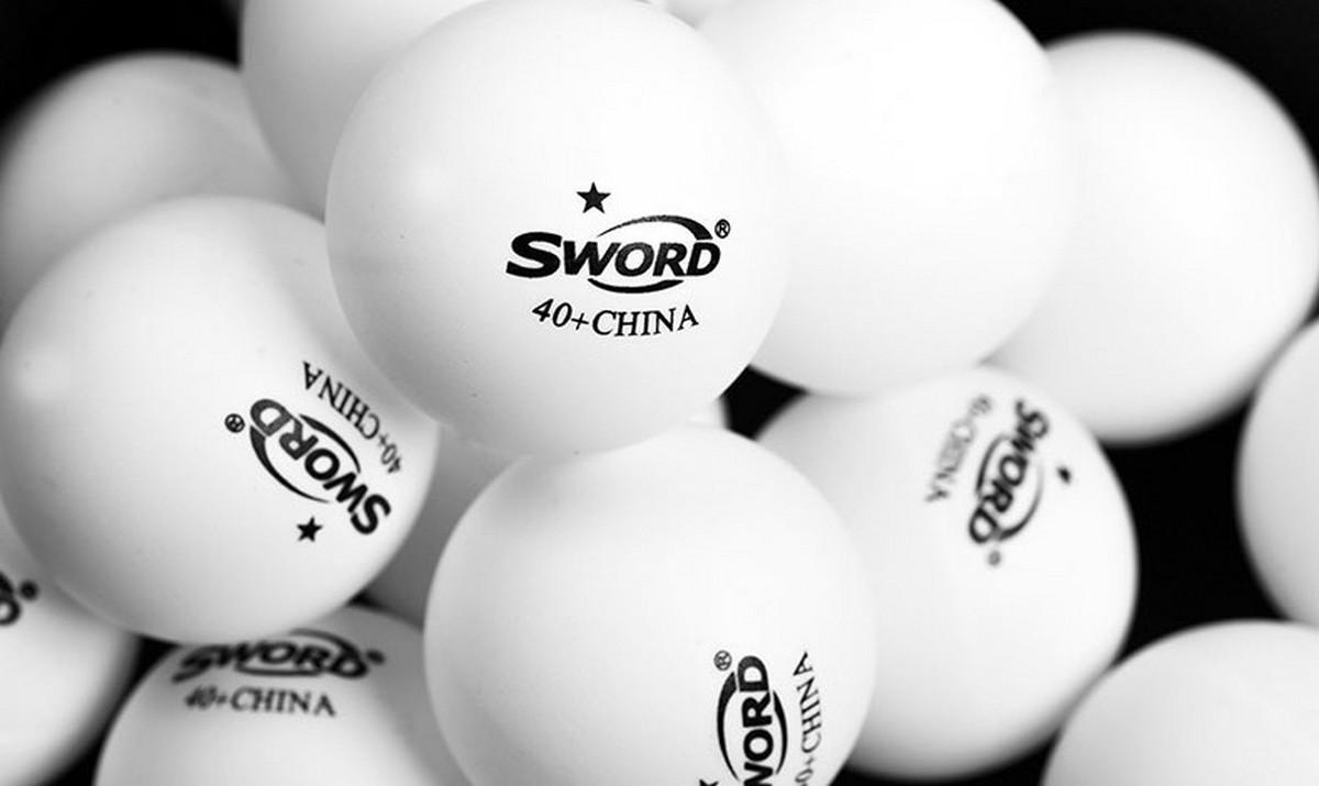 Мячи пластиковые Sword * 40+ 6 шт, белый