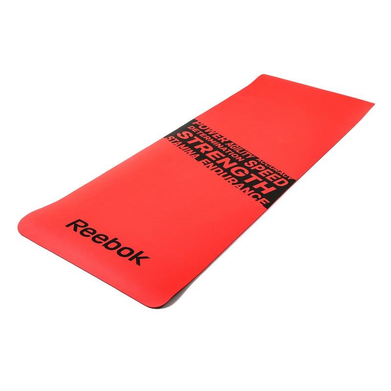 Тренировочный коврик (мат) для фитнеса нескользящий Reebok RAMT-11024RDS красный