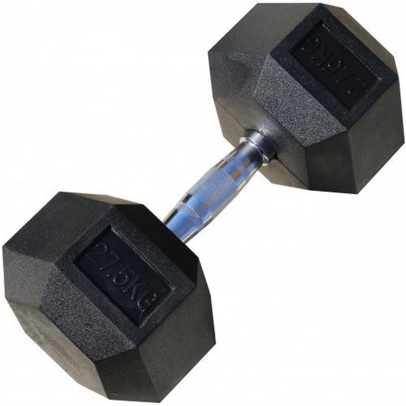 Гантель гексагональная обрезиненная 27,5 кг Iron King CR 73 цена