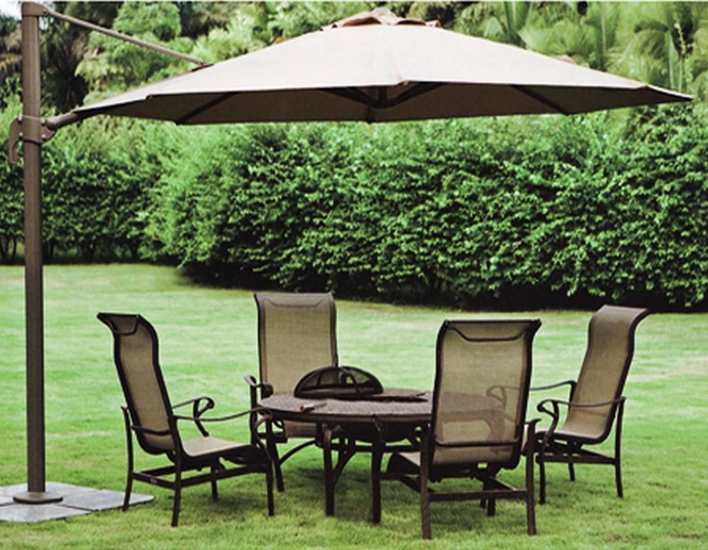 Зонт садовый подвесной GardenWay A002-3500 Бежевый (тауп)