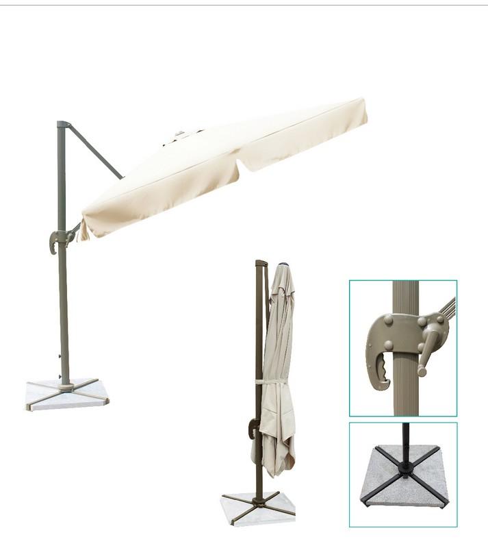 Зонт садовый подвесной GardenWay A002-3500 Кремовый