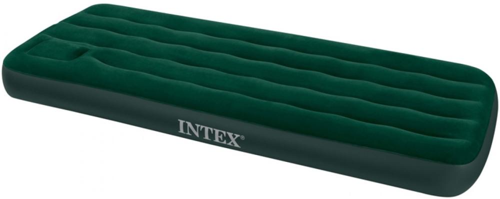 Надувной матрас Intex Downy Bed, 99х191х22см, со встроенным ножным насосом 66927