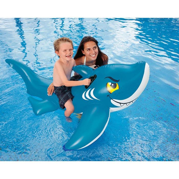 Надувная игрушка для плавания Intex 56567 Акула очки маски и трубки для плавания intex маска авиатор для плавания 55911