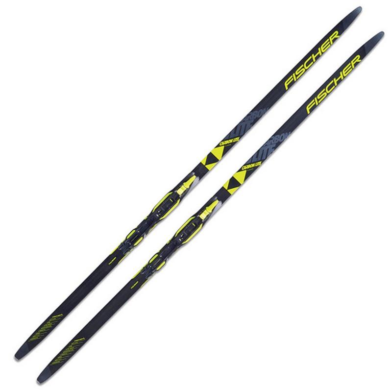 Купить Лыжи беговые Fischer Carbоnlite CL Jr. IFP Wax N59019 (черно/желтый),
