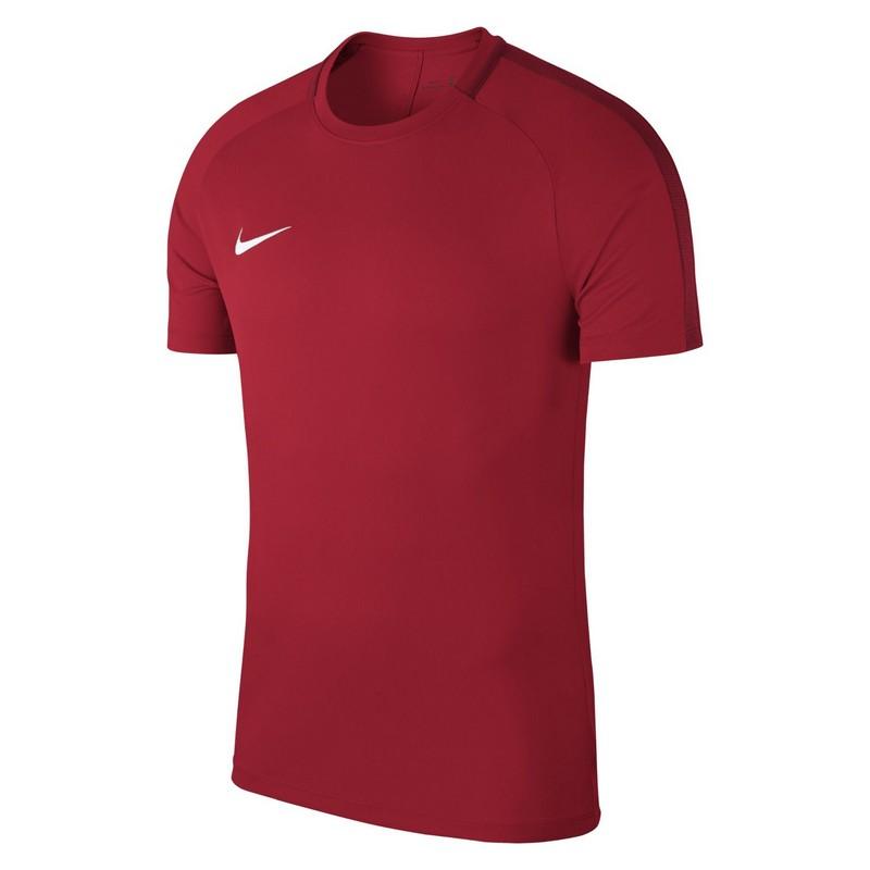 Футболка детская Nike Dry Acdmy18 Top Ss Jr 893750-657 тренировочная, красная