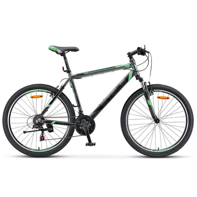 Купить Велосипед Stels Navigator 600 V V020 2017 АнтрацитовыйЗеленый (LU085064),