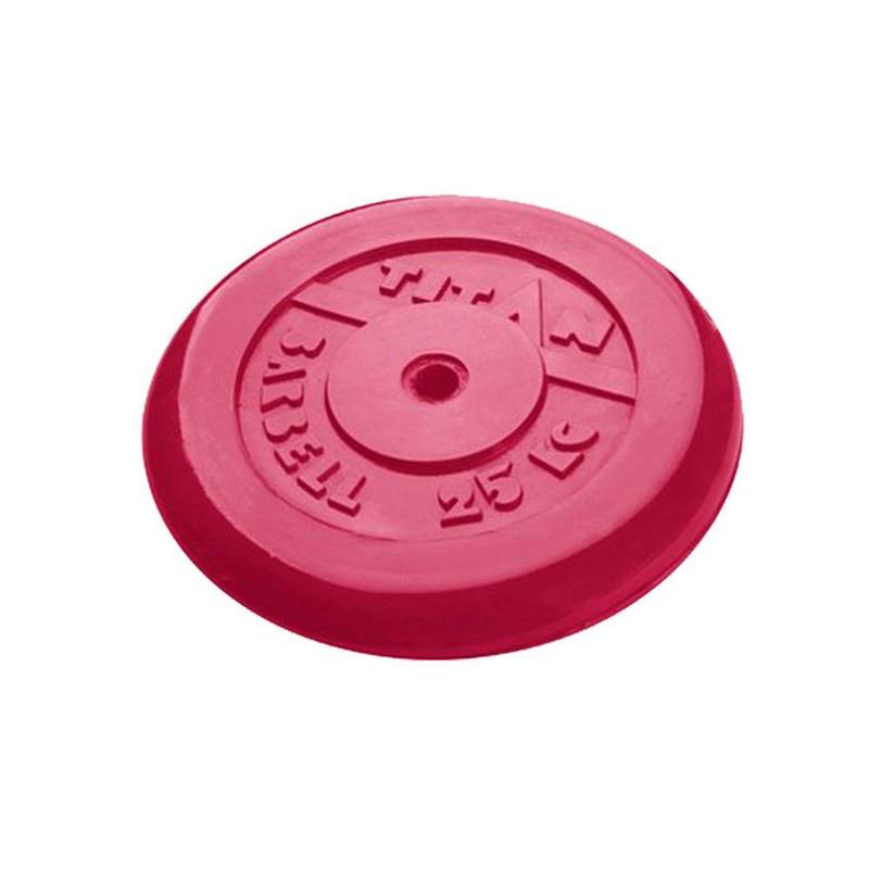Купить Диск обрезиненный d26мм MB Barbell Titan 25кг красный,