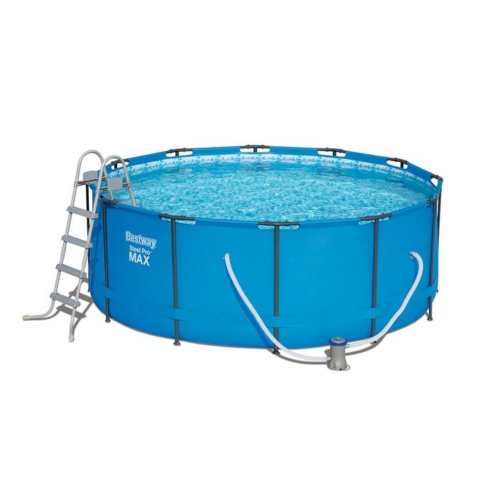 Купить Каркасный бассейн Bestway 366х122 см, 10250л, фильтр-насос 2006л/ч, лестница 5614P,