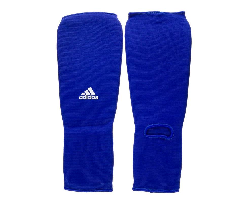 все цены на Защита голени и стопы Adidas Shin and Step Pad синяя adiBP08