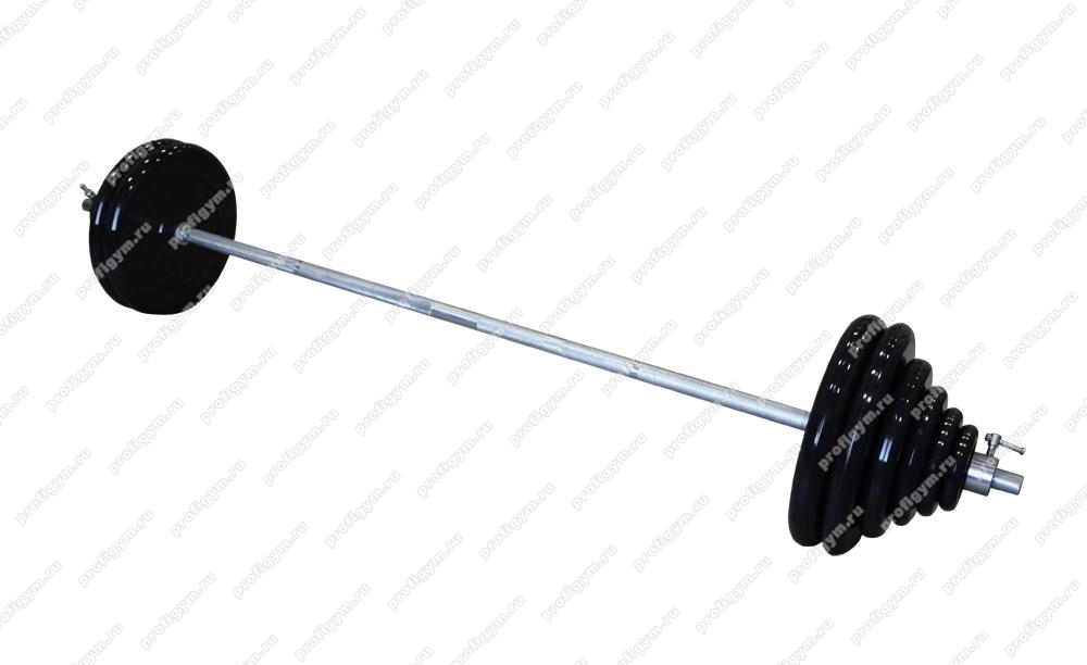 Купить Гриф для штанги ProfiGym L=190 см D=26 мм разборная, 110 кг в наборе ШТР-110-26,