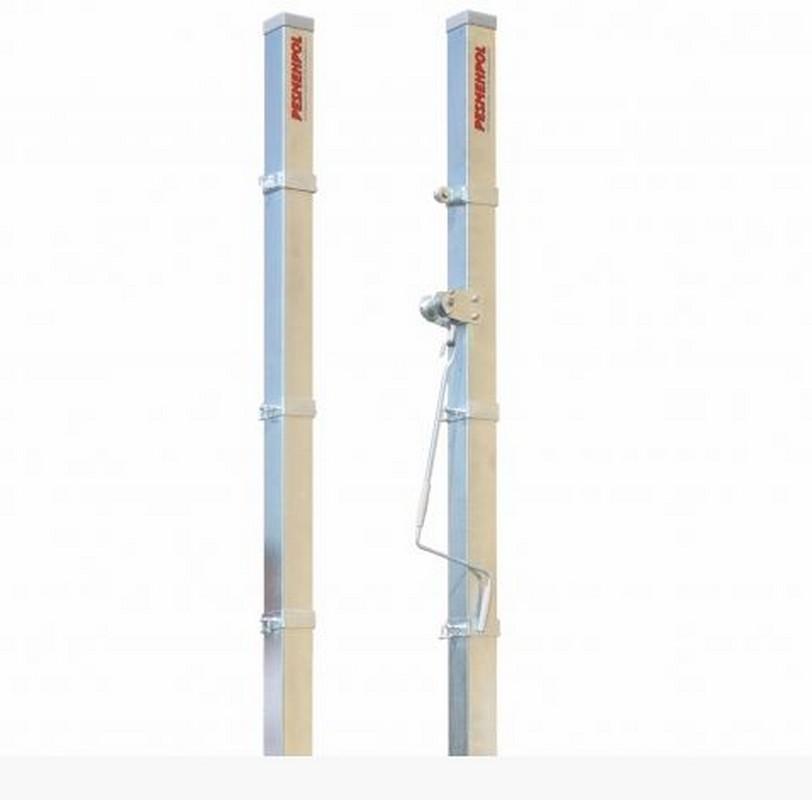 Стойки волейбольные Pesmenpol универсальные с механизмом натяжения 2 шт.