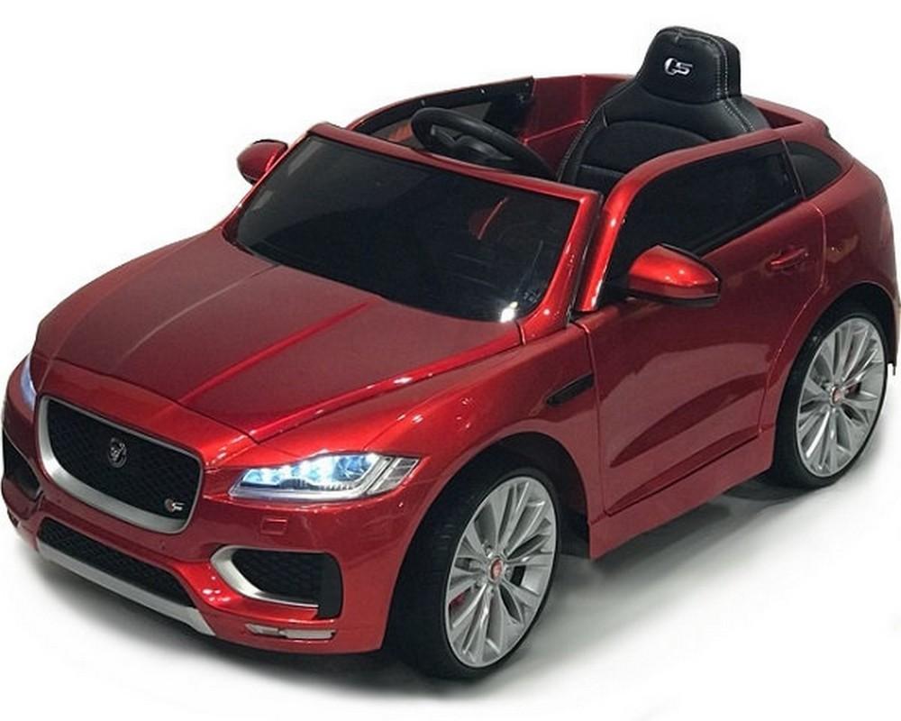 Купить Детский электромобиль River-Toys джип Jaguar F-Pace LS-818 вишневый глянец, Детские электромобили