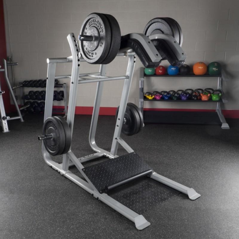 Тренажер голень стоя - приседания на свободном весе Body Solid SLS500 тренажер для разгибания ног сидя и сгибания свободные веса body solid plce165x
