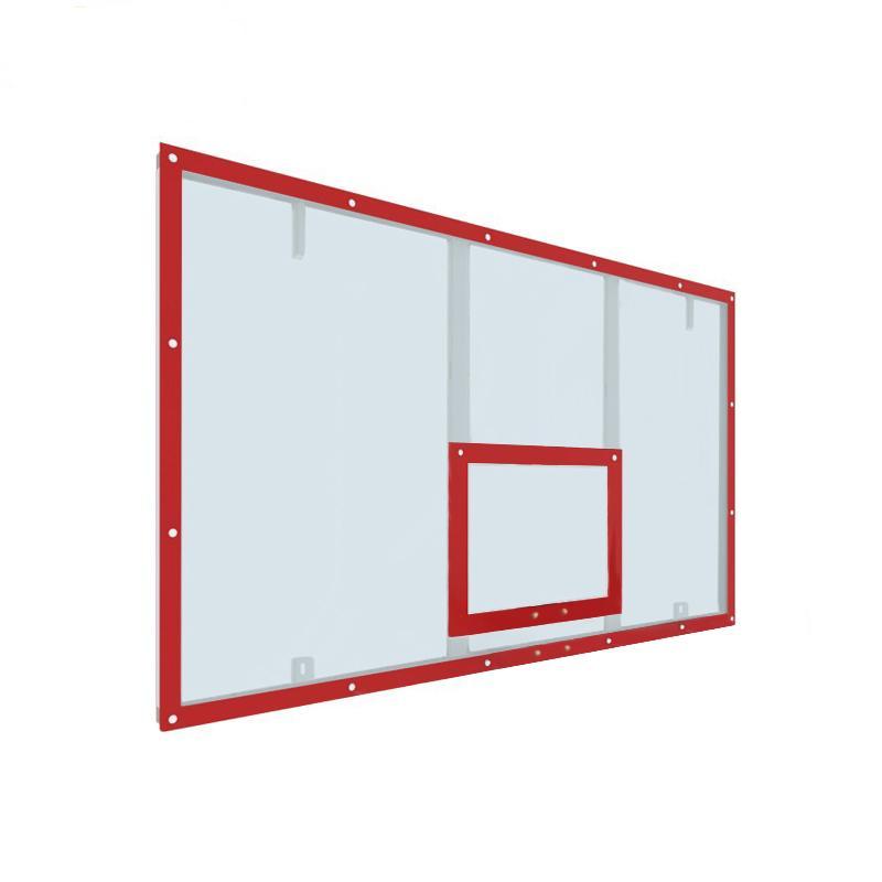 Купить Щит баскетбольный игровой 180х105 поликарбонат на раме (разметка красная) Dinamika ZSO-002103,