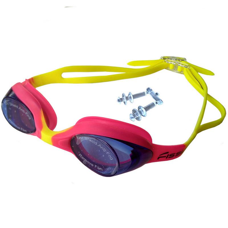 Купить Очки для плавания детские R18165 JR (розовые-фиолетовые), NoBrand