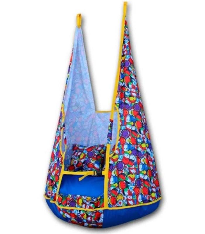 Качели-гамак Belon Ка-002 с подушками, смайлики