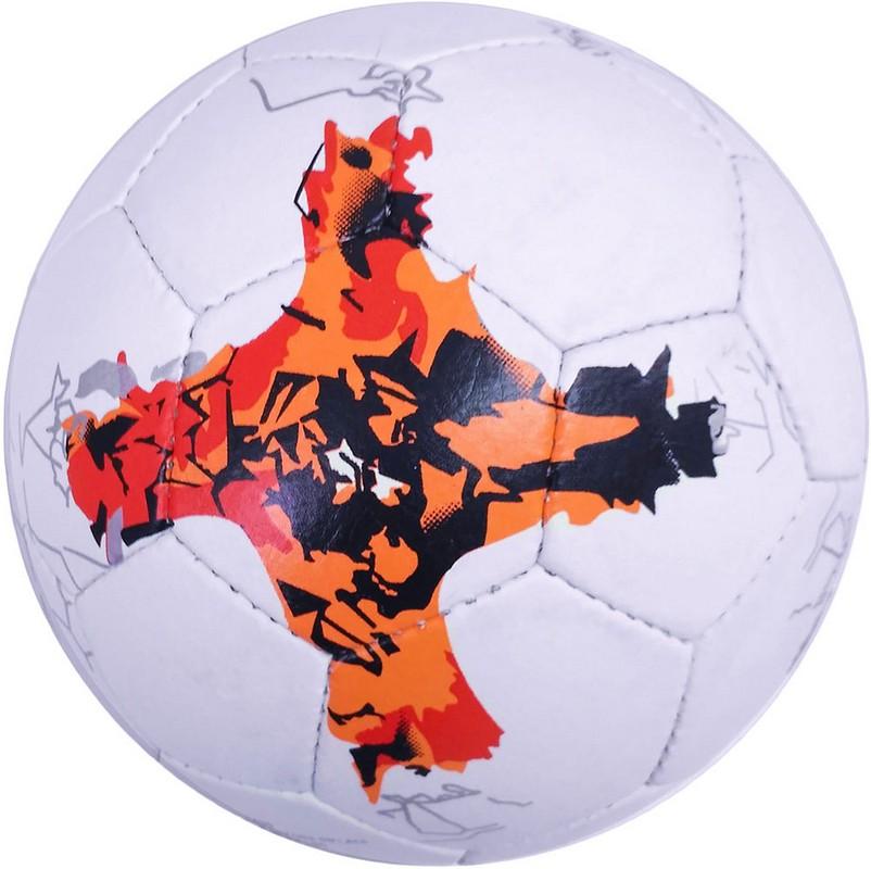 Мяч футбольный FB-4003-2 р.5 белый\оранжевый фото