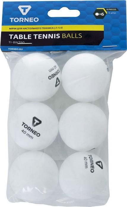 Купить Мячи для настольного тенниса Torneo (6 шт)TI-BWT60 S18ETOAQ001-00,