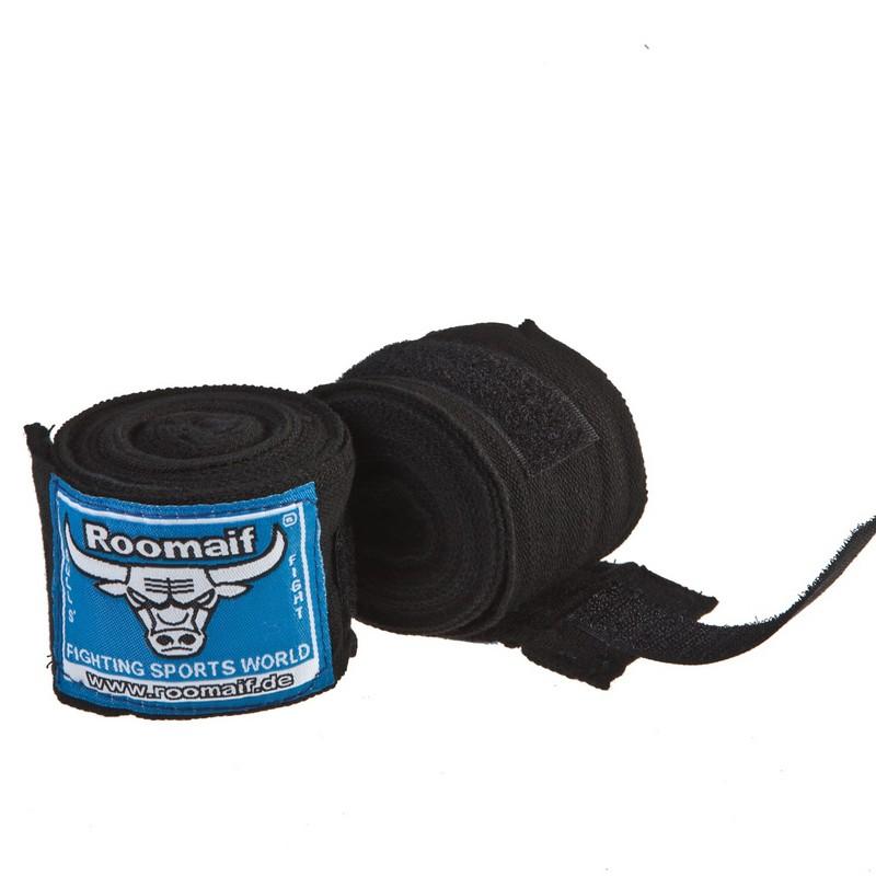 Купить Бинт боксерский Roomaif 3 м, хлопок-лайкра RME черный,