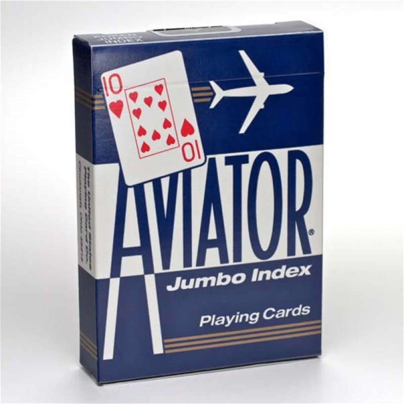 Купить Карты Аviator Jumbo Index Red Blue, синяя рубашка 1000876-blue, NoBrand, Карты игральные