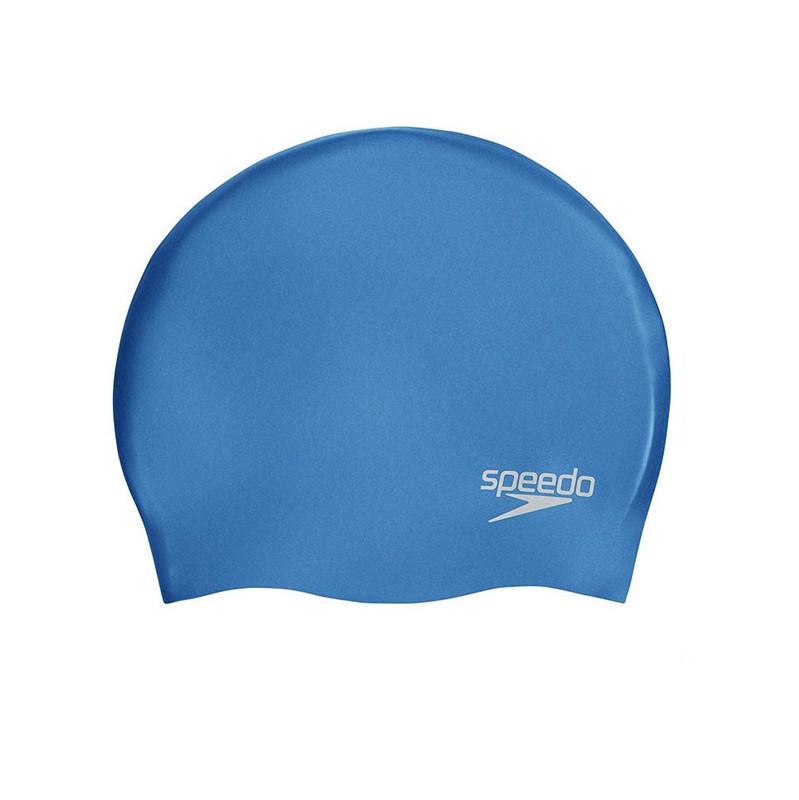 Купить Шапочка для плавания Speedo Plain Molded Silicone Cap 8-70984D437 голубой,