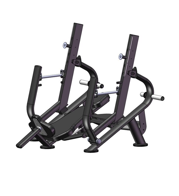 Купить Олимпийская наклонная скамья с ограничителями и регулировкой наклона стоек Vertex ЕFB 101,