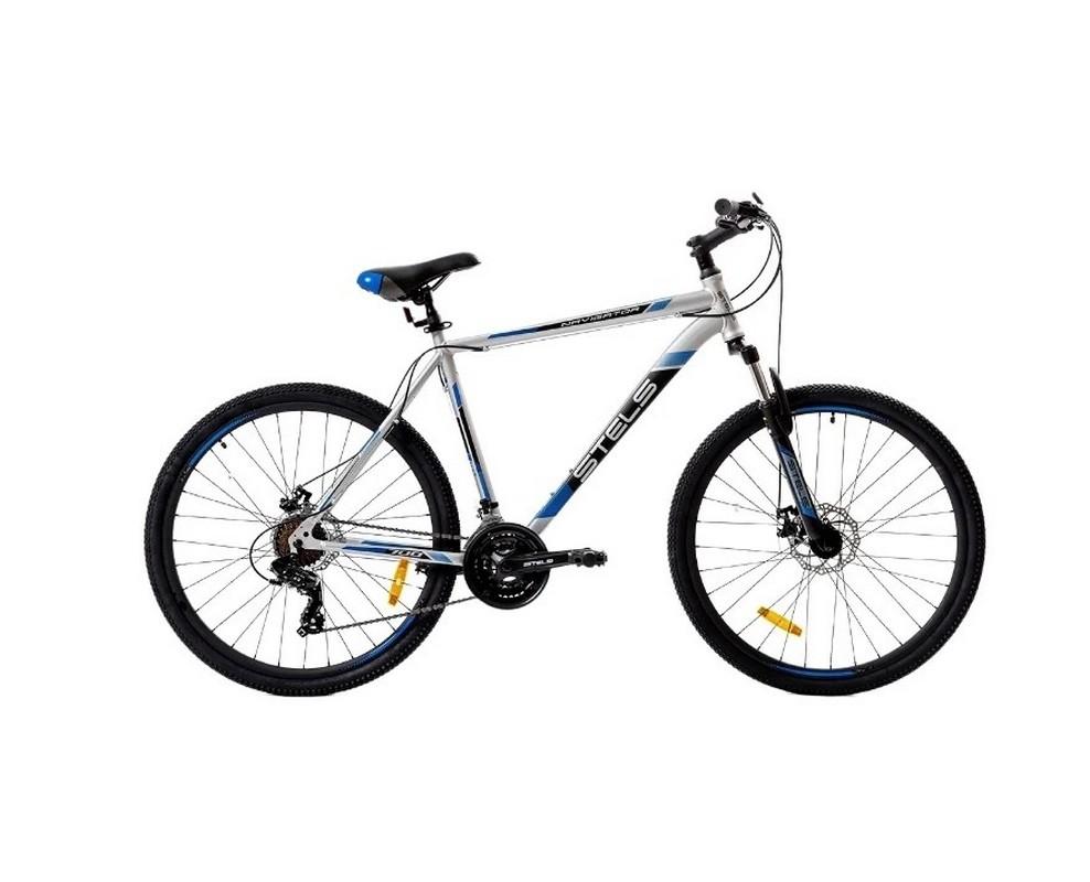 Купить Велосипед Stels Navigator 700 MD F010 2019 СеребристыйСиний 27.5Ø (LU092626),