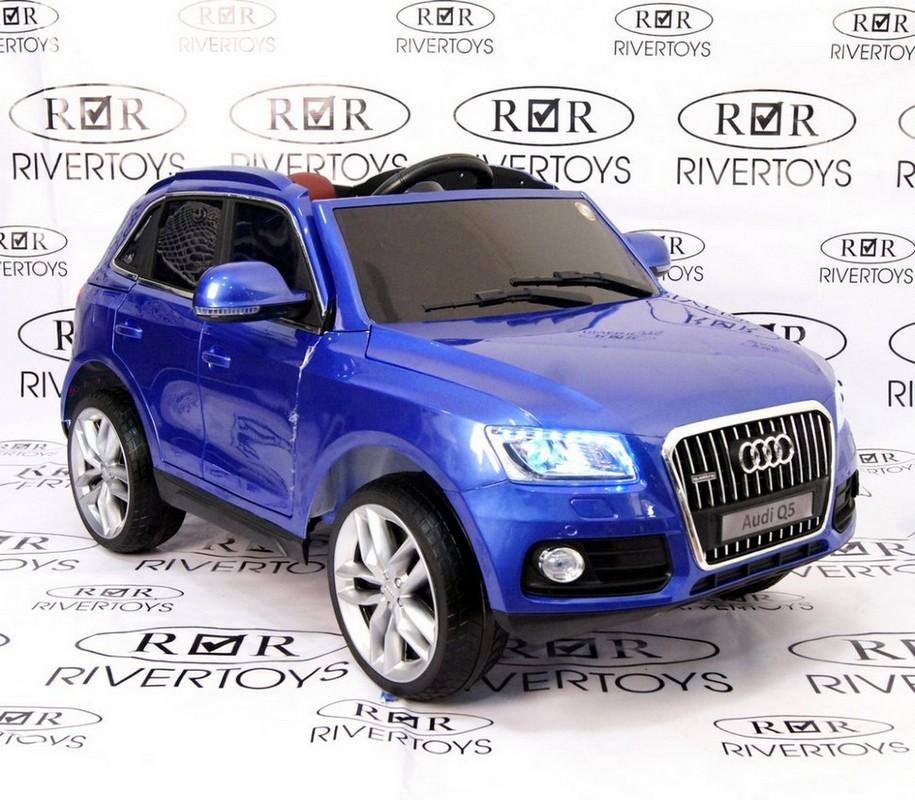 Детский электромобиль River-Toys Audi Q5 синий глянец