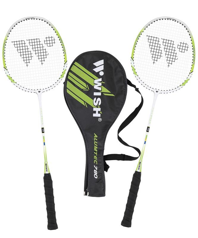Набор для бадминтона Wish Alumtec 780 2 ракетки, зеленый от Дом Спорта