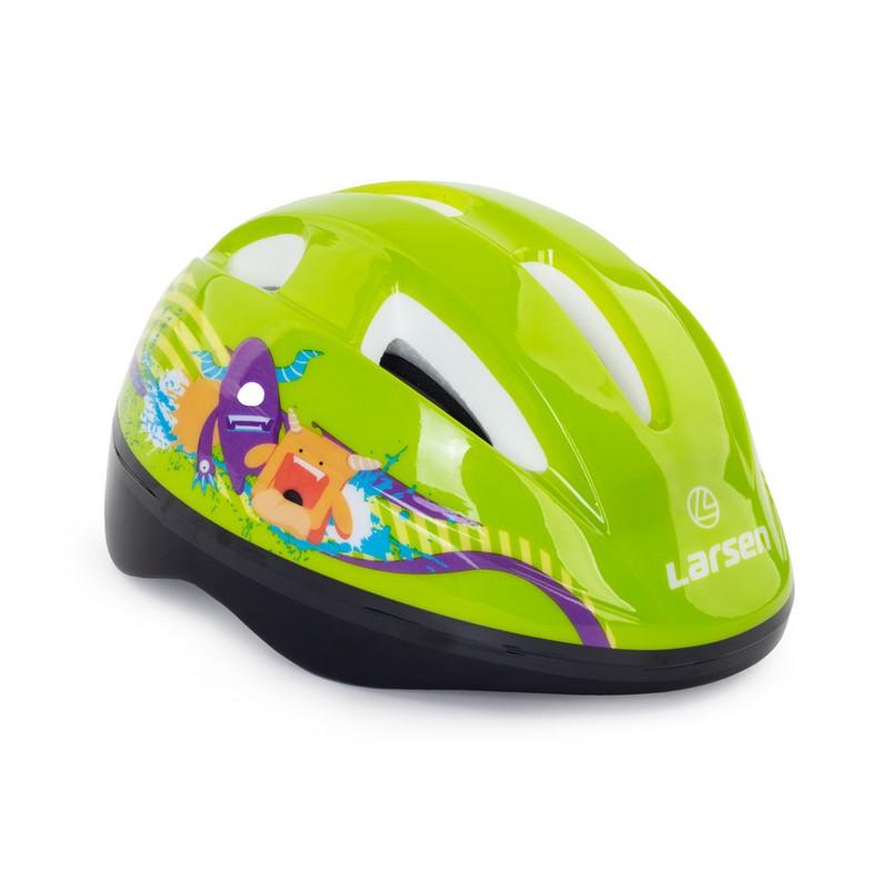 Шлем роликовый Larsen Kiddy Green детский,  - купить со скидкой