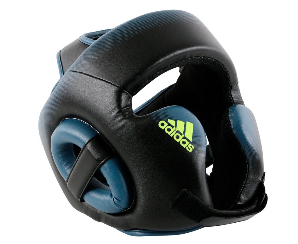 Шлем боксерский Adidas Speed Head Guard черно-синий adiBHGM01