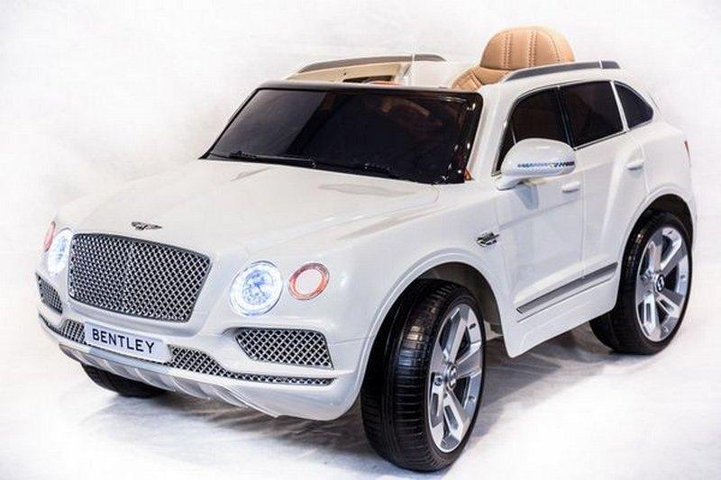 Электромобиль River-Toys Bentley Bentayga JJ2158 (лицензия) белый с ДУ