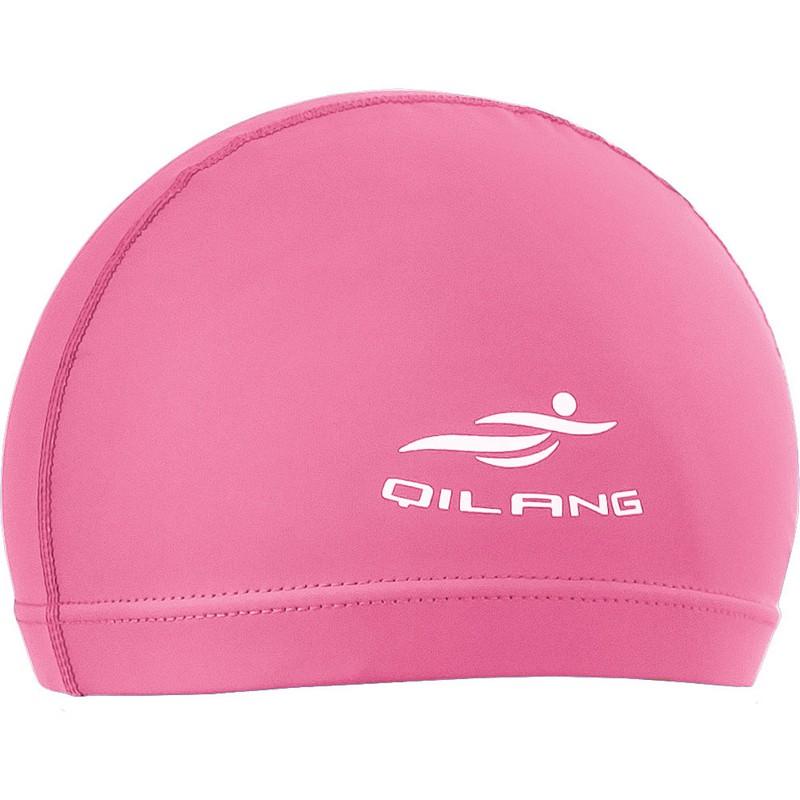 Шапочка для плавания B31551 одноцветная ПУ (розовая), NoBrand  - купить со скидкой