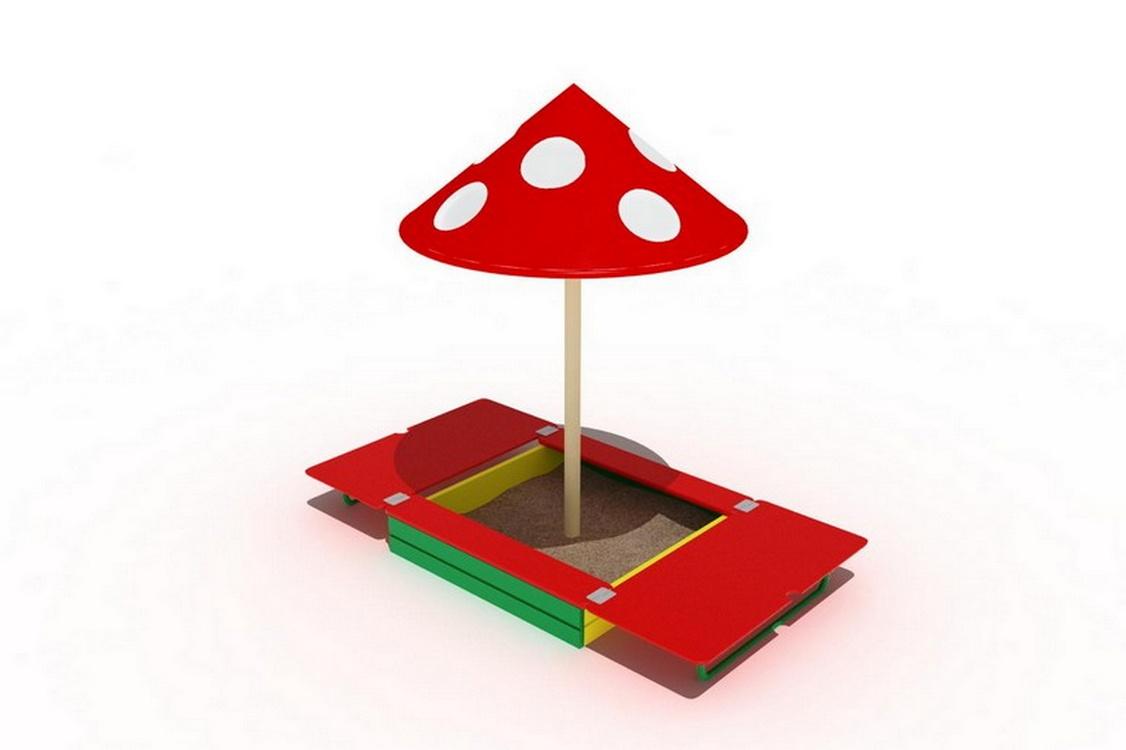 картинка песочница с грибом неярким рассеянным