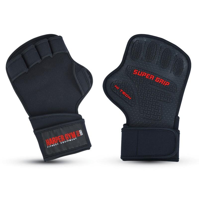 Купить Перчатки для силовых тренировок Harper Gym 16-8550 black,