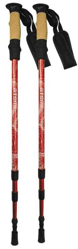 Купить Палки для треккинга Atemi 3-секционные 65-135 см ATP-05 red, twist lock, antishok,
