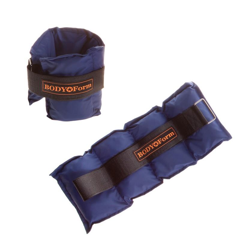 Утяжелитель универсальный 2x1,2кг Body Form BF-WUN01 темно-синий