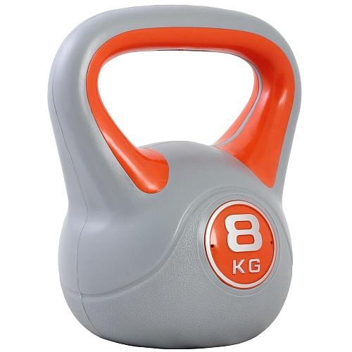Купить Гиря пластиковая Start Up ЕСЕ 010 8 кг, серый/оранжевый,