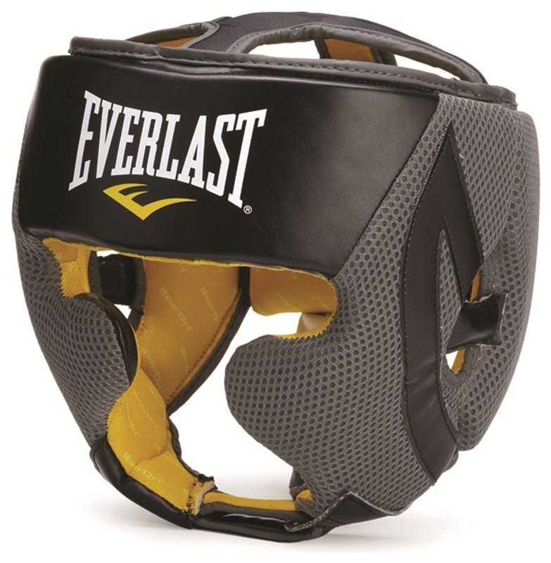Шлем закрытый Everlast EverCool 4044, к/з, черный