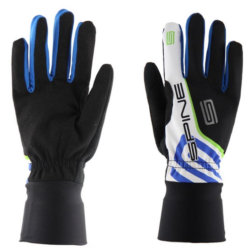 Купить Перчатки лыжные Spine PRO 9982 черныйсинийзеленый,