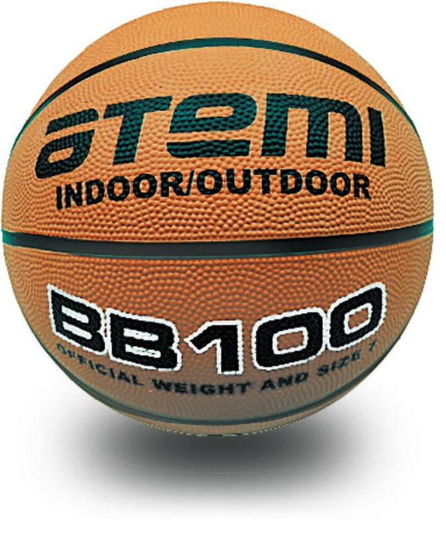 Баскетбольный мяч Atemi р.7 резина, 8 панелей, BB100 фото