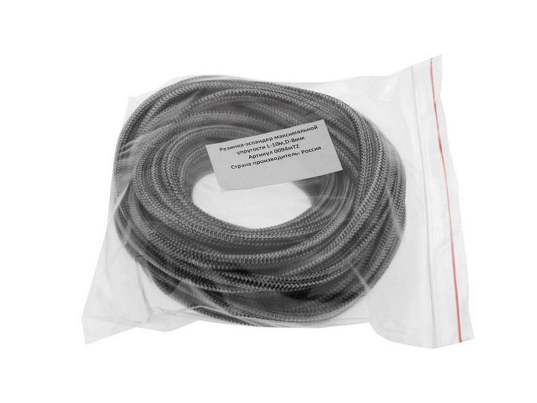 Купить Резинка эластичная, эспандер длина - 10 м, диаметр 8,3 мм, сильной упругости 0094TZ, NoBrand