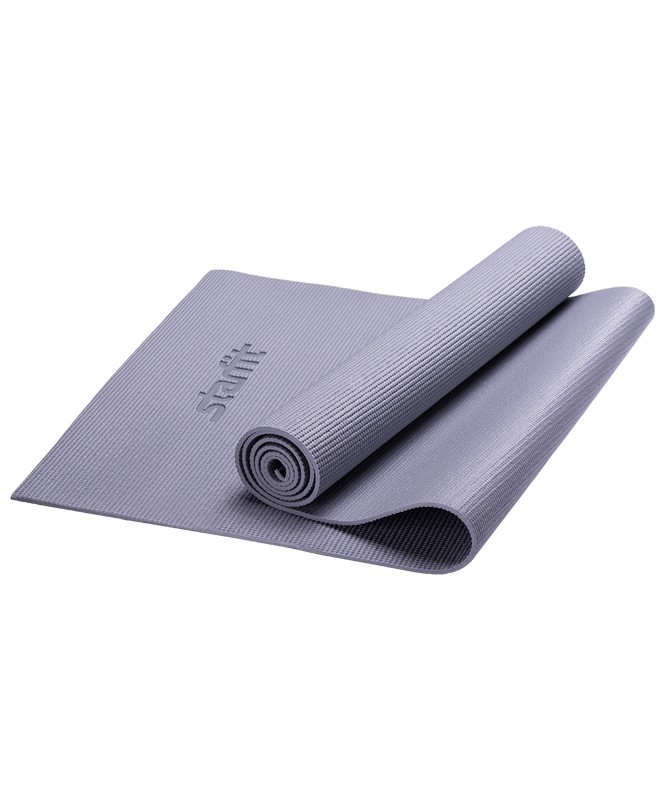Купить Коврик для йоги Star Fit FM-101 PVC 173x61x0,5 см, серый,