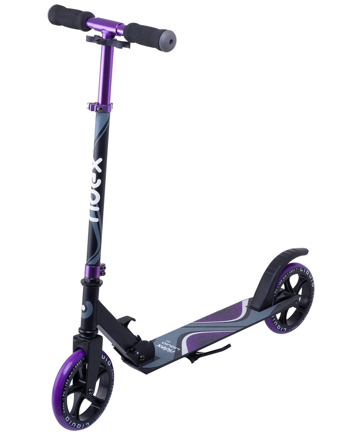 Купить Самокат 2-колесный Ridex Liquid d180 мм, черныйфиолетовый,