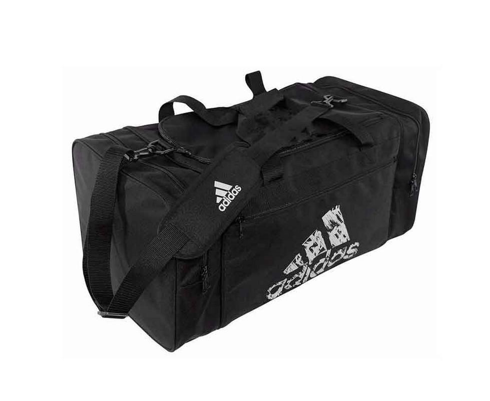 Сумка спортивная Adidas Team Bag M черная adiACC106-M сумка спортивная adidas combat camo bag m камуфляжно оранжевая adiacc053 m