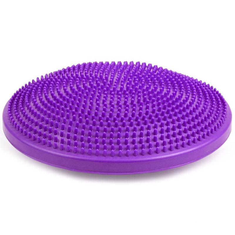 Купить Полусфера массажная овальная надувная (ПВХ) d-33см MSG300 фиолетовая, NoBrand