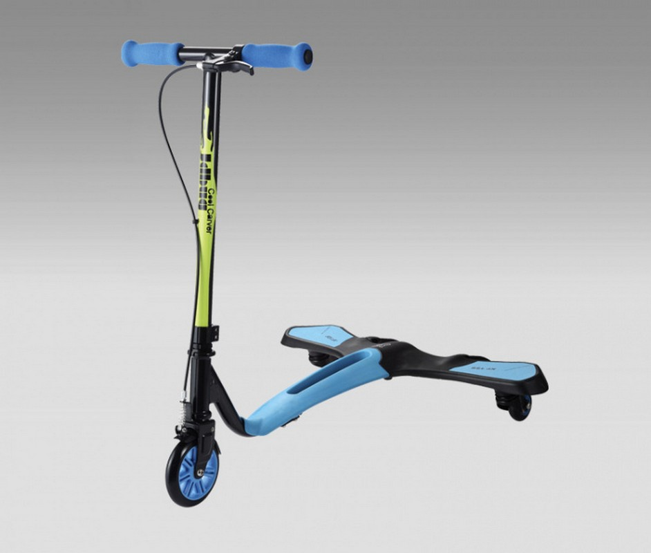 все цены на Самокат JDBug XF-126 Cool Carver Mini синий онлайн