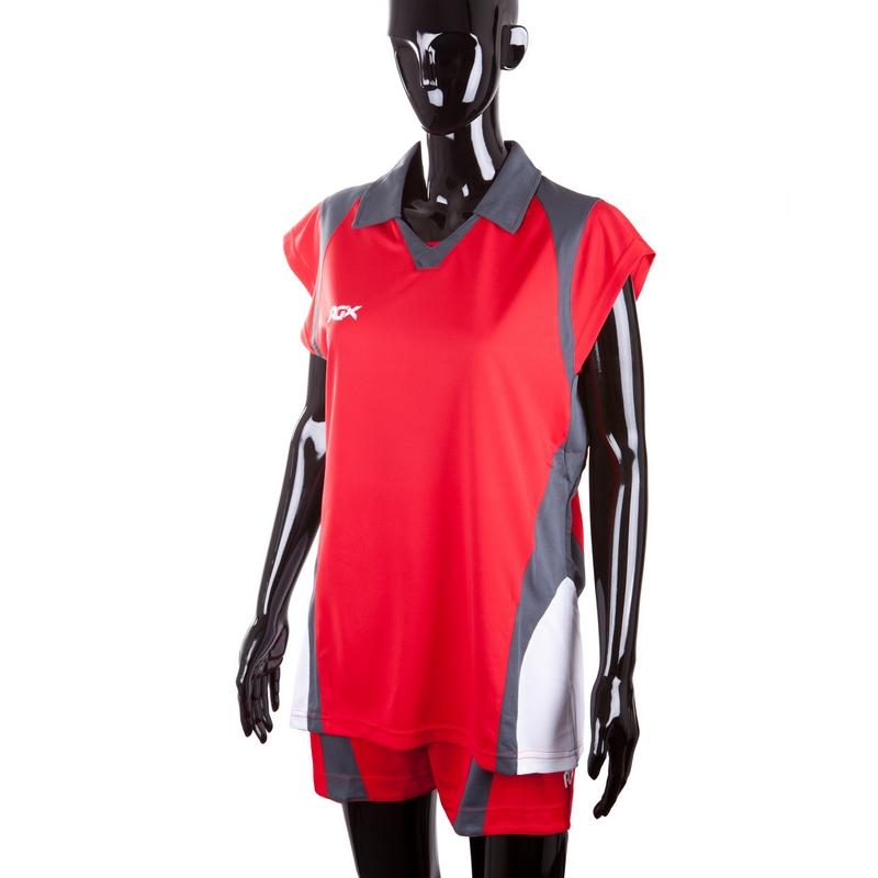 Форма волейбольная RGX VB-05 red/grey Junior женская